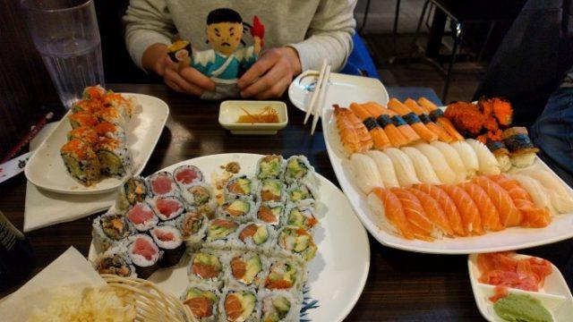 圧倒的量の寿司