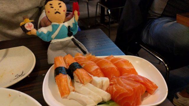 追加のお寿司とお刺身