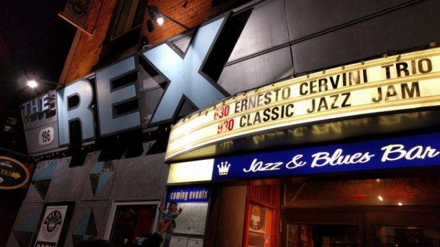 トロントで有名なジャズバー、THE REXに行ってみたの画像です