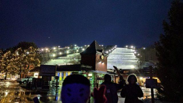 ブルーマウンテンのスキー場は横に広い