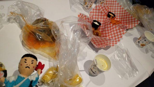 ビニール袋の中でboilされた海鮮たち