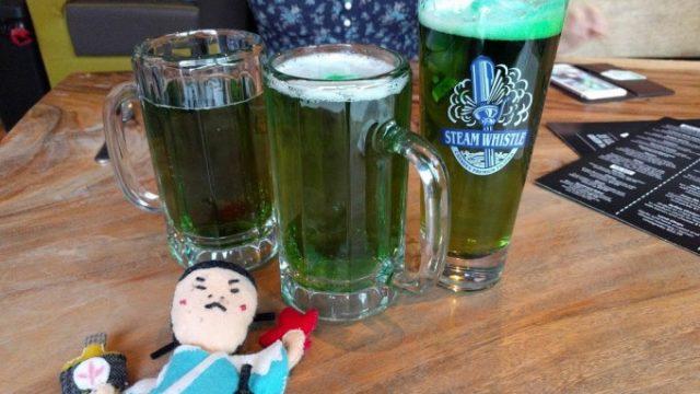 緑色のビール