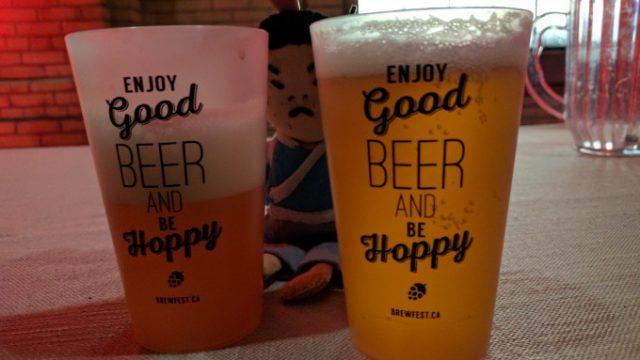ビールはハーフサイズかフルサイズ