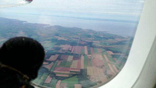 プリンスエドワード島上空から見た景色