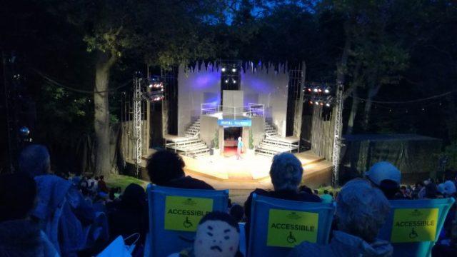 High Parkの野外劇場でシェイクスピアを鑑賞!の画像です