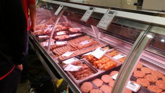 様々なお肉がずらり