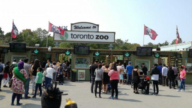 トロント動物園の入口