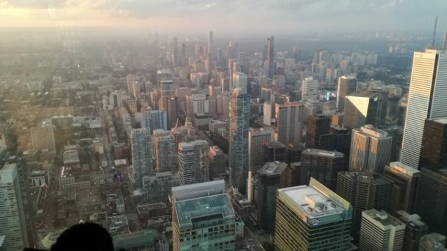 CNタワーの上から見る景色