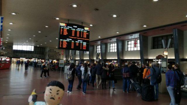 モントリオール駅に到着!